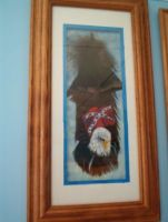 Eagle Over Confederate Flag
